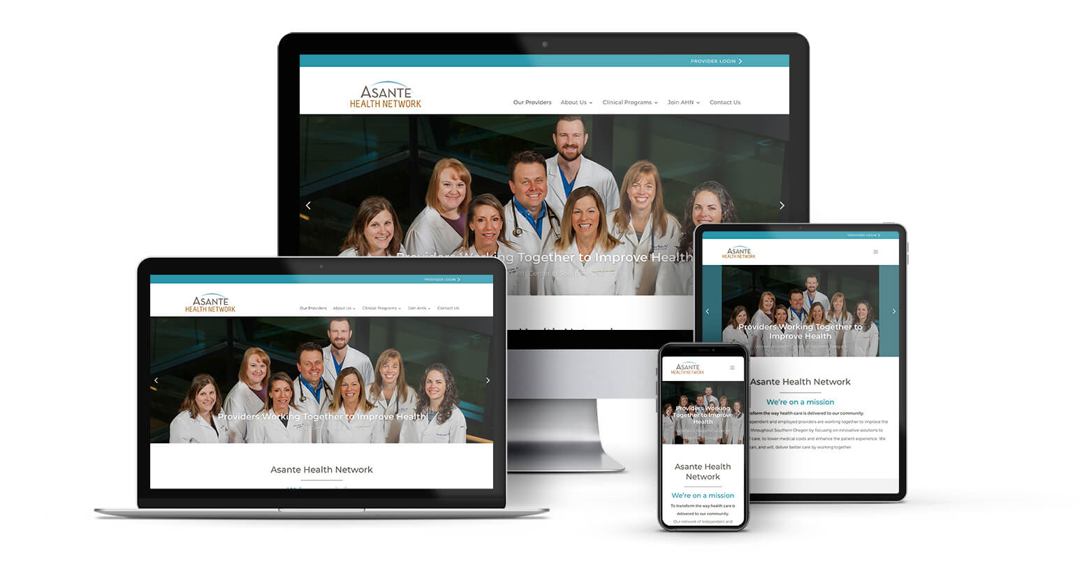 Asante Health Network Responsive Design