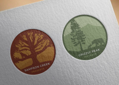 Sampson Creek and Grizzly Peak Preserve Final Logos