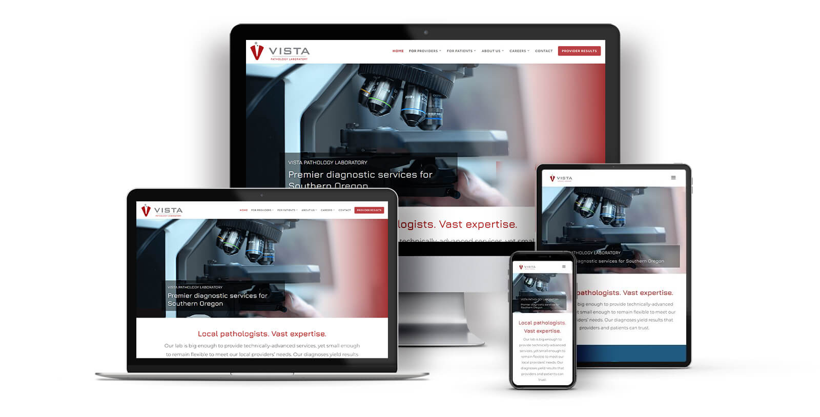 Vista Pathology Lab Responsive Design
