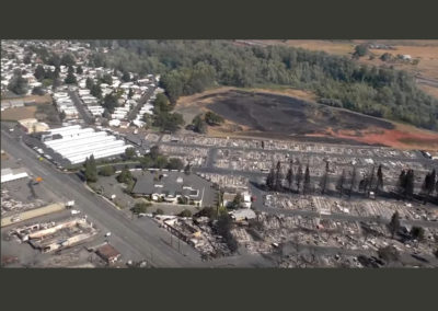 Phoenix Oregon - La Clinica and fire devastation