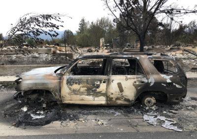 Melted Car - Talent - Alameda Fire