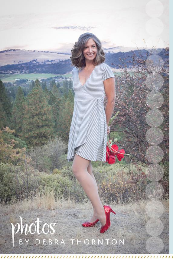 ruby slipper design website - photography by Debra Thornton of Ashland Oregon