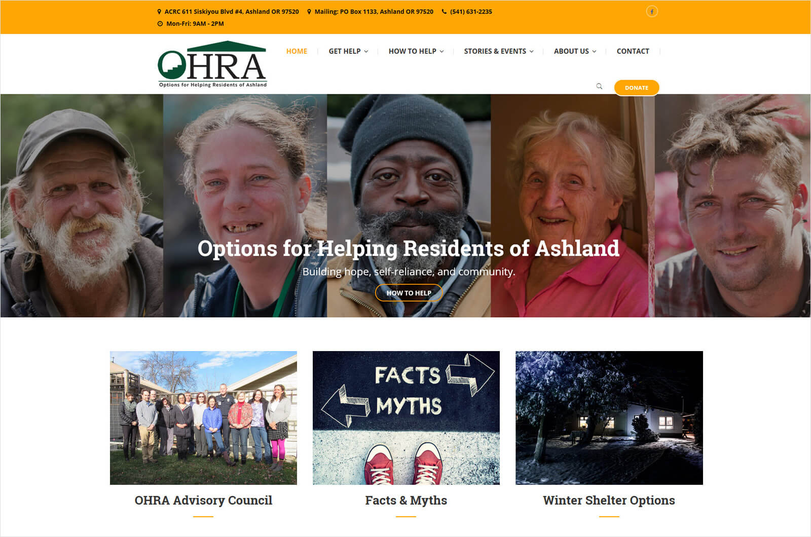 Options for Helping Residents of Ashland