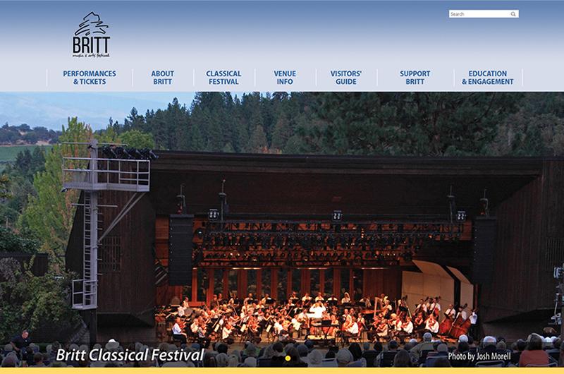 Britt Festival of Jacksonville Oregon