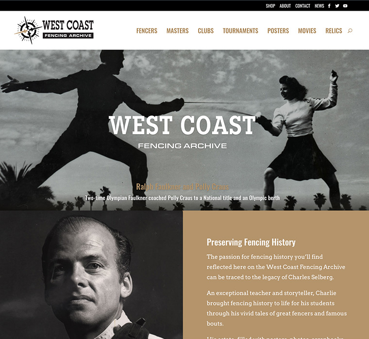 The West Coast Fencing Archive tells the history of this noble sport in California.