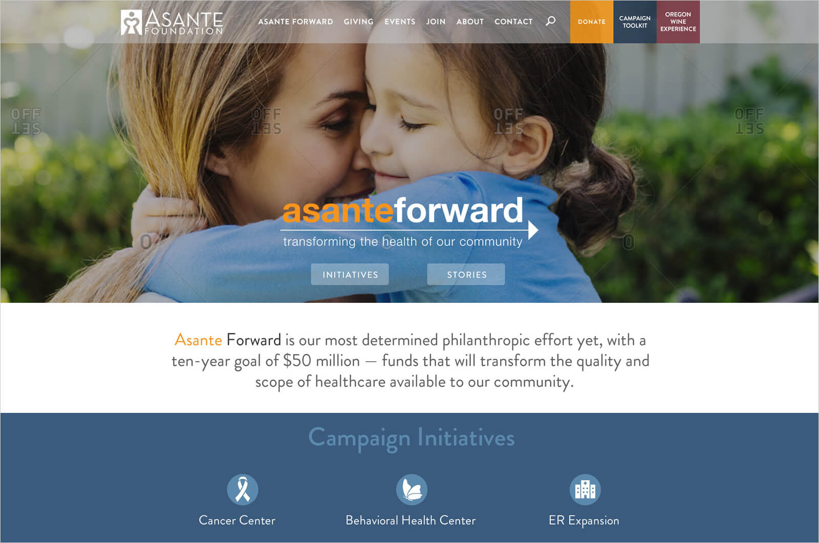 Asante Foundation Website